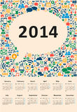 2014 new year calendar. Vector illustration social media Stock Photos