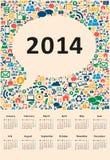2014 new year calendar. Vector illustration social media Vector Illustration