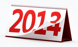 New year 2014. 2014 calendar on white background Stock Photo