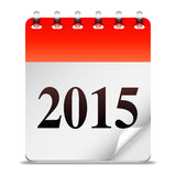 New Year calendar. 2015 New Year calendar on white background Royalty Free Stock Image
