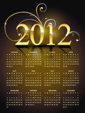 New year calender. Golden happy new year calender design Royalty Free Stock Photo