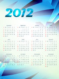 New year calender. Happy new year 2012 calender design royalty free illustration