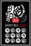 New year calender. 2013 New year calender with gear stock illustration
