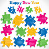 New year calender Stock Photo