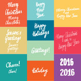 New year calligraphy variations hand written lettering set Stock Photography