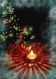 New Year candle Royalty Free Stock Images