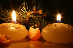 New year candles Stock Image