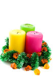 New year candles Royalty Free Stock Images