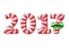 New Year 2017 candy cane Royalty Free Stock Image