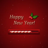 New Year candy progress bar stock photos