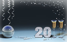 New year card. 3D new year card celebration Stock Photography
