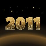 New year card. Cosmic 2011, new year card,  illustration Stock Image