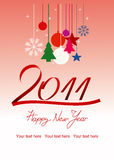 New Year card. Happy New Year card layered version Royalty Free Stock Photography