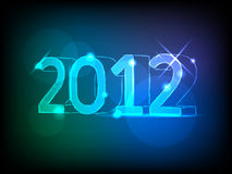New year card. New year 2012 card with neon numbers royalty free illustration