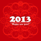 New year card 2013. New year greeting card 2013 Stock Photography