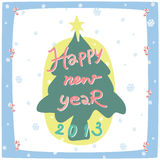 New year card 2013. With tree symbol Stock Photo