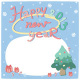 New year card 2013. With note fill Vector Illustration