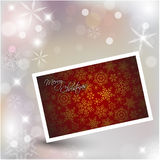 New Year card. On Christmas background Stock Images