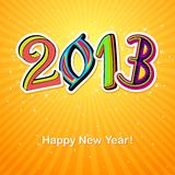 New Year Card. Vector illustration of new year greeting card for 2013 Vector Illustration