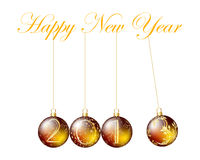 New Year Card. New Year background. EPS 10 Vector illustration  with transparency and meshes Stock Image