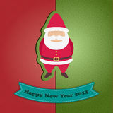 New Year card. Red and green New Year card with Santa Claus. Eps 10 Royalty Free Stock Images