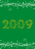 New year card. Vector illustration of New year card on the red background Royalty Free Stock Images