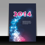 New Year Card Background - 2014. Abstract Colorful New Year Card, Flyer, Cover or Background Design in Freely Scalable and Editable Vector Format stock illustration