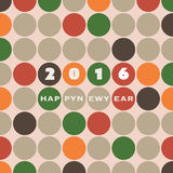 New Year Card Background - 2016 Royalty Free Stock Photos