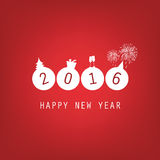 New Year Card Background - 2016 Stock Photos