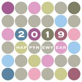New Year Card Background - 2019 stock illustration
