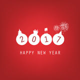 New Year Card Background - 2017 Royalty Free Stock Images