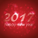 New Year Card Background - 2017 Stock Image
