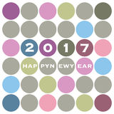 New Year Card Background Design - 2017 Royalty Free Stock Photography