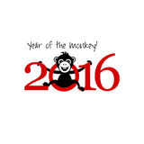 2016 New Year card or background with monkey. Stock Images