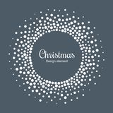 New Year 2019 Card Background. Snow flake circle frame. Halftone round snowflake dotted frame. Christmas card. Vector. New Year 2019 Card Background. Snow flake royalty free illustration