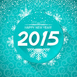 New Year card background.Vector illustration. Vector New year card with snowflakes for winter holiday Stock Images