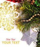 New year card with beautiful star Royalty Free Stock Photography