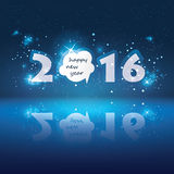 New Year Card - 2016 Royalty Free Stock Photo