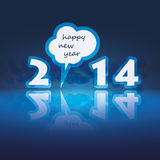 New Year Card - 2014. Blue Abstract New Year Card, Cover or Background Design in Freely Scalable and Editable Vector Format Stock Photos