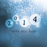 New Year Card - 2014. Blue New Year Card, Cover or Background Design in Freely Scalable and Editable Vector Format Stock Photo