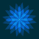 New Year card.  Blue snowflake. Royalty Free Stock Images