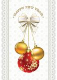 Happy New Year.Christmas decorations Stock Image