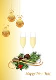 New Year card, cdr vector Royalty Free Stock Images