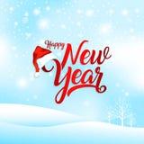 Happy new year greeting card vector illustration royalty free illustration