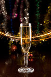 New Year card with champagne Royalty Free Stock Photography