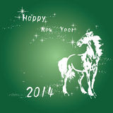 New year card. The Chinese horse year Royalty Free Illustration