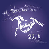 2014 new year card. New year card, the Chinese horse year Royalty Free Illustration