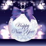 New Year Card with Christmas balls Royalty Free Stock Images