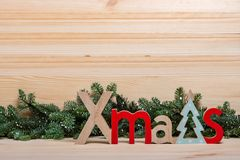New Year card. Christmas card. New Year`s wooden letters Christmas stock photography