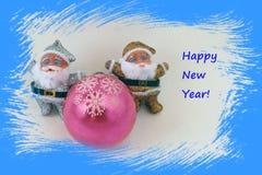 New Year. Card stock photos